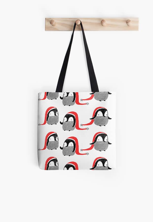 aurora-cacciapuoti-pattern-bag-penguins