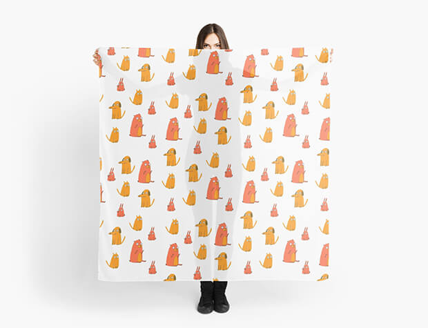 aurora-cacciapuoti-pattern-scarf-dogs-cats