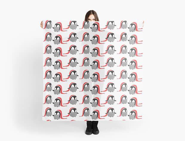 aurora-cacciapuoti-pattern-scarf-penguins